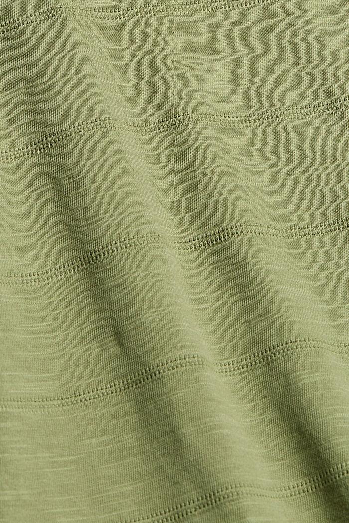Tanktop mit Streifenmuster, Organic Cotton, LIGHT KHAKI, detail image number 4