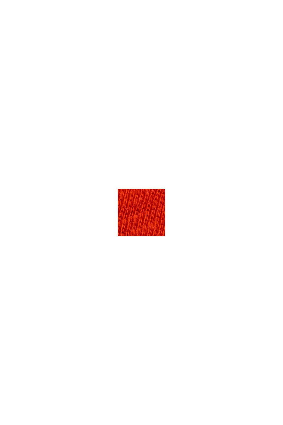 Mit Leinen: Tanktop mit V-Ausschnitt, ORANGE RED, swatch