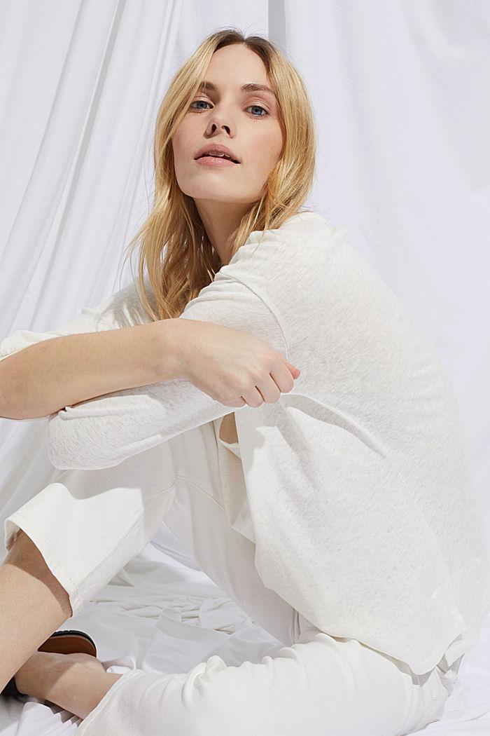 Blusenshirt aus Baumwoll-Leinen-Mix