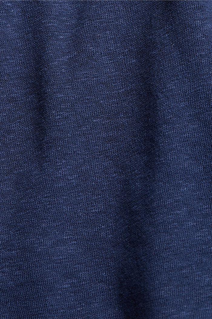 Blusenshirt aus Baumwoll-Leinen-Mix, DARK BLUE, detail image number 4