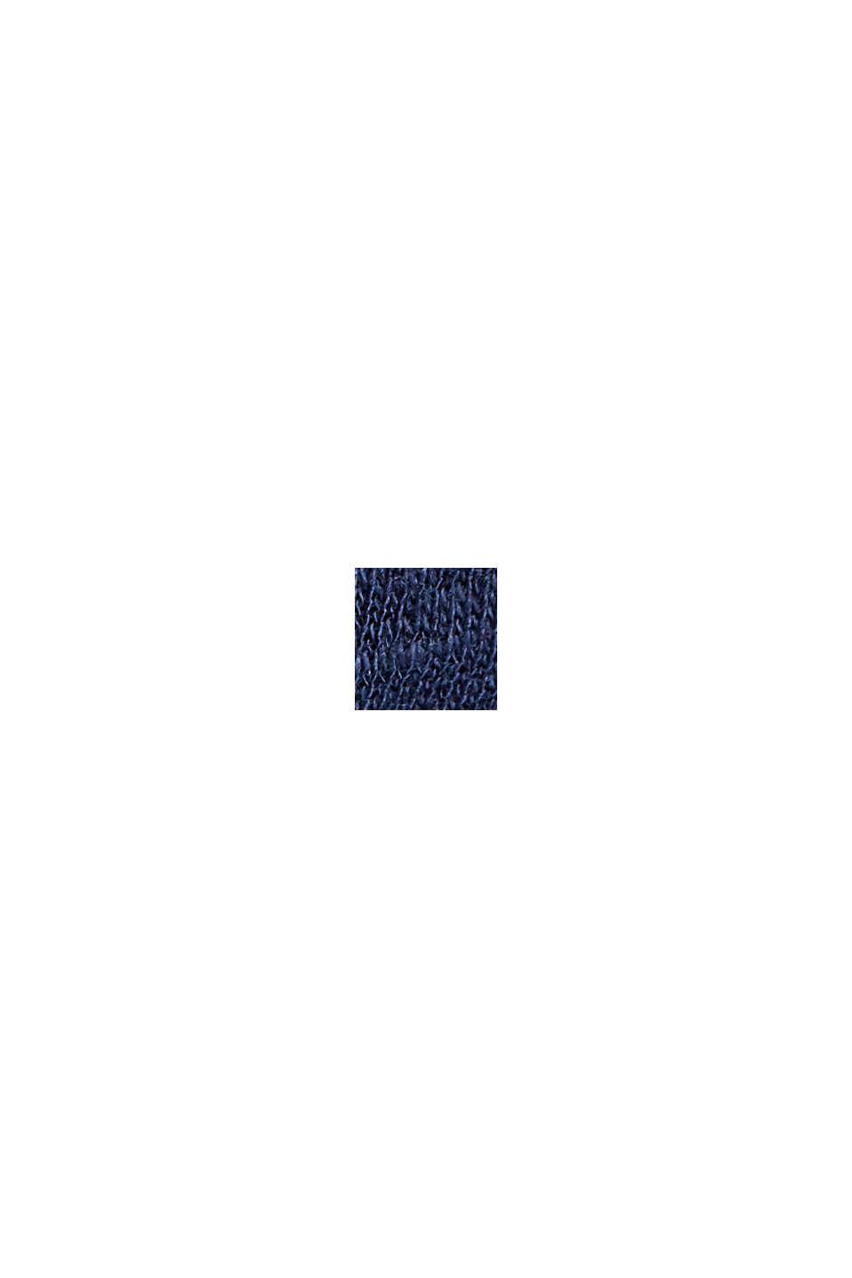 Blusenshirt aus Baumwoll-Leinen-Mix, DARK BLUE, swatch