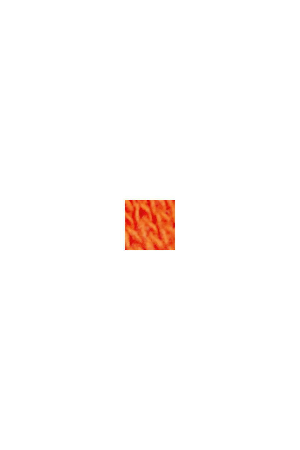 Blusenshirt aus Baumwoll-Leinen-Mix, ORANGE RED, swatch