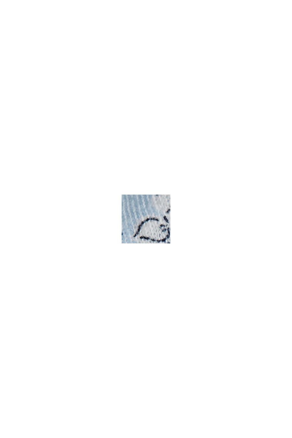 Med hør: Langærmet overdel i bluselook, LIGHT BLUE, swatch