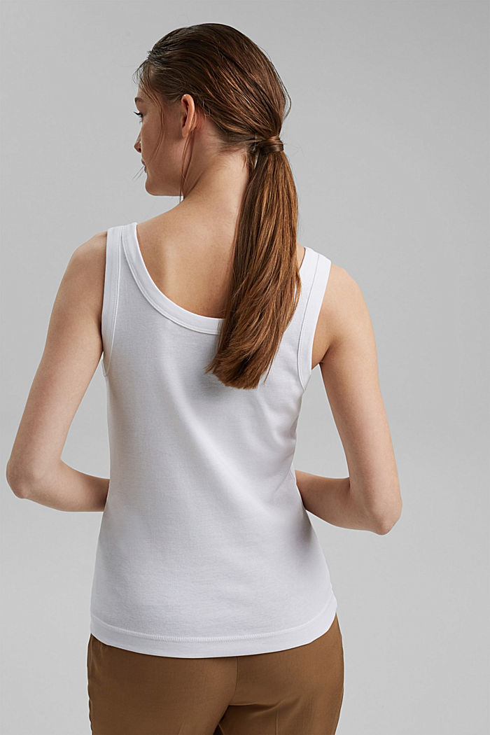 Vest top made of 100% organic cotton, WHITE, detail image number 3