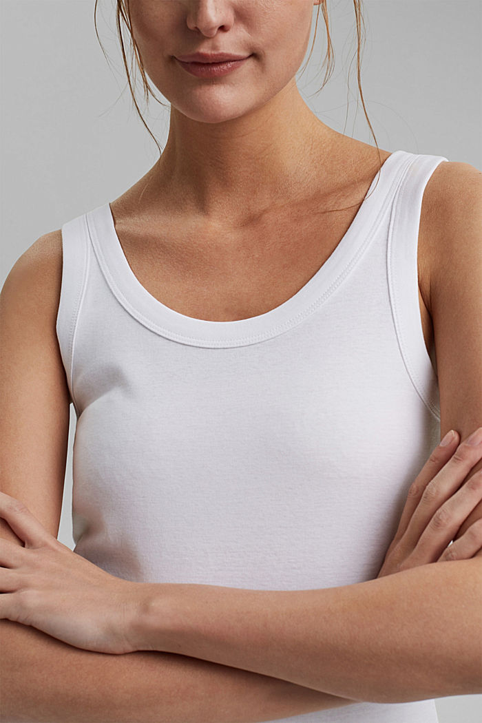 Vest top made of 100% organic cotton, WHITE, detail image number 2