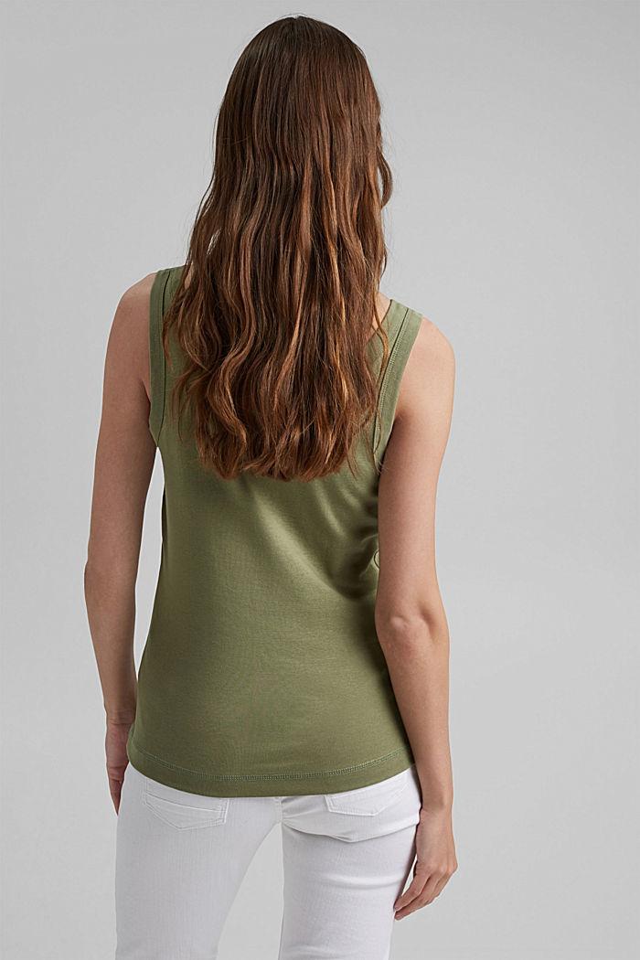 Vest top made of 100% organic cotton, LIGHT KHAKI, detail image number 3