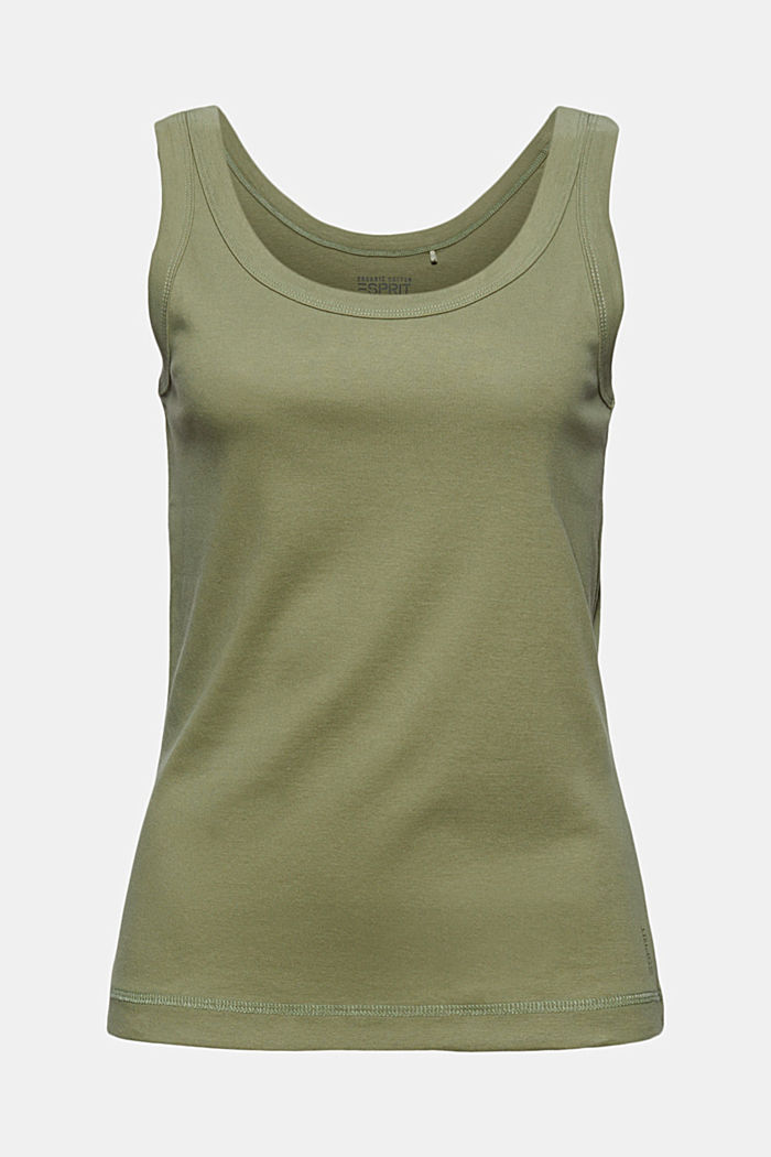 Vest top made of 100% organic cotton, LIGHT KHAKI, detail image number 5