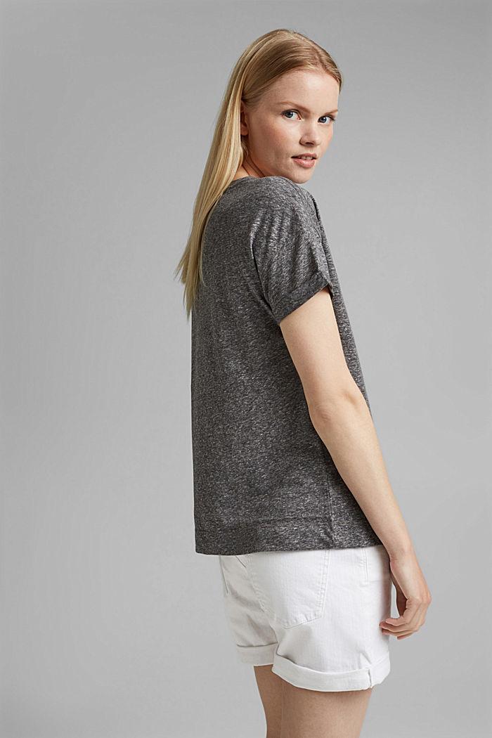 Recycelt: T-Shirt mit Organic Cotton, ANTHRACITE MELANGE, detail image number 3