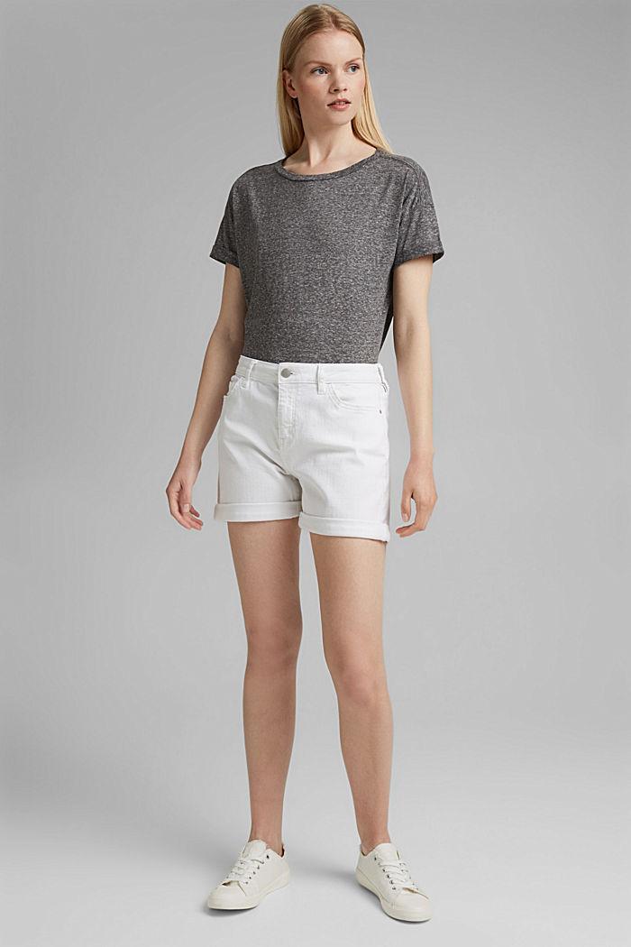 Recycelt: T-Shirt mit Organic Cotton, ANTHRACITE MELANGE, detail image number 1