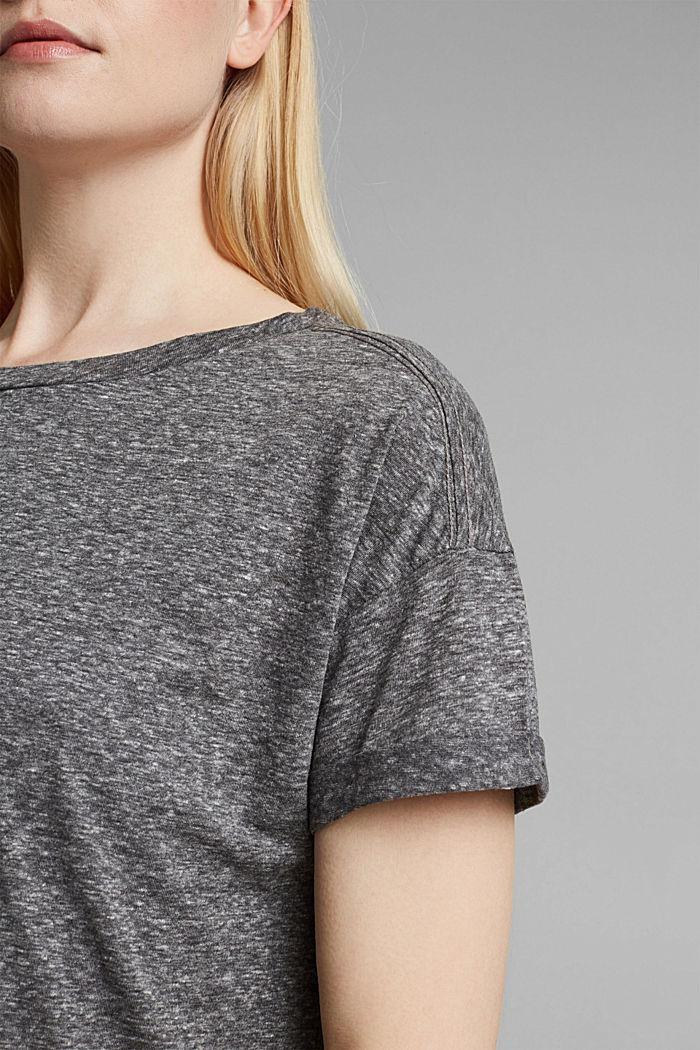 Recycelt: T-Shirt mit Organic Cotton, ANTHRACITE MELANGE, detail image number 2