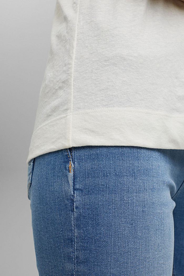 Recycelt: T-Shirt mit Organic Cotton, OFF WHITE, detail image number 2