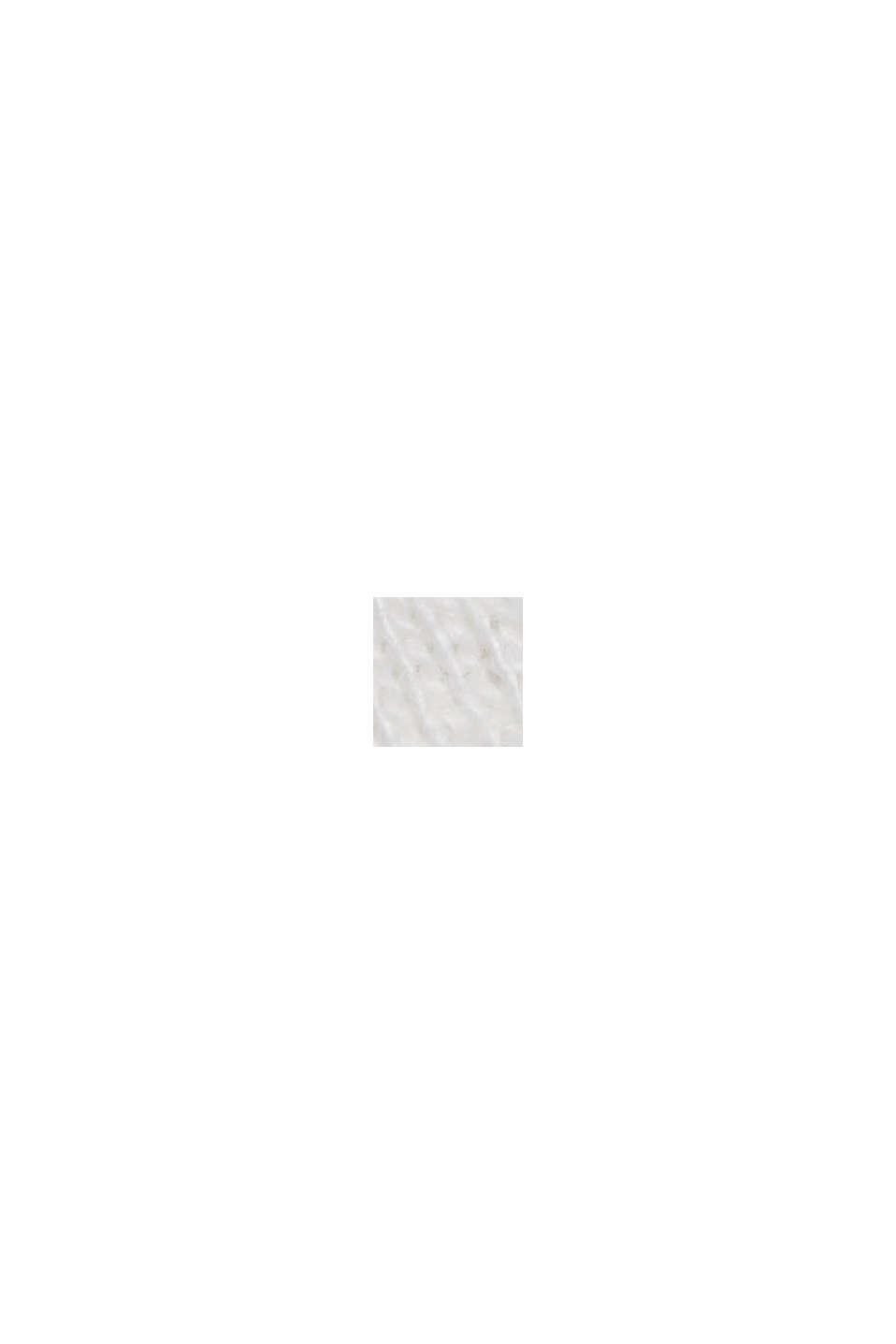 In materiale riciclato: t-shirt con cotone biologico, OFF WHITE, swatch