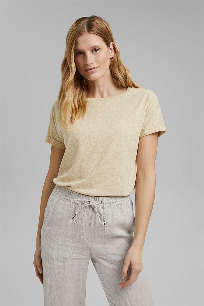 En matière recyclée: le t-shirt à teneur en coton bio, SAND, detail image number 0