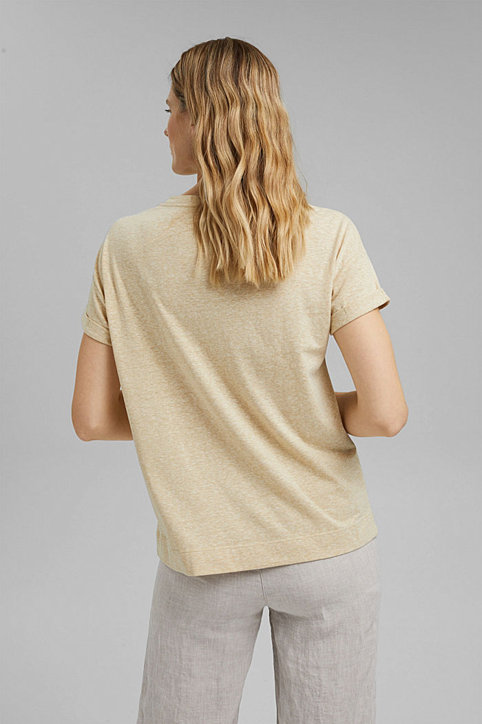 Recycled: T-shirt with organic cotton, SAND, detail image number 3