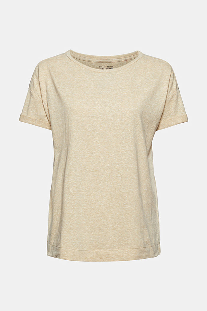 Recycled: T-shirt with organic cotton, SAND, detail image number 6