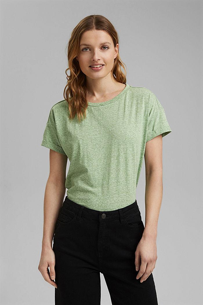 Kierrätettyä: T-paita, sis. luomupuuvillaa, LEAF GREEN, detail image number 0