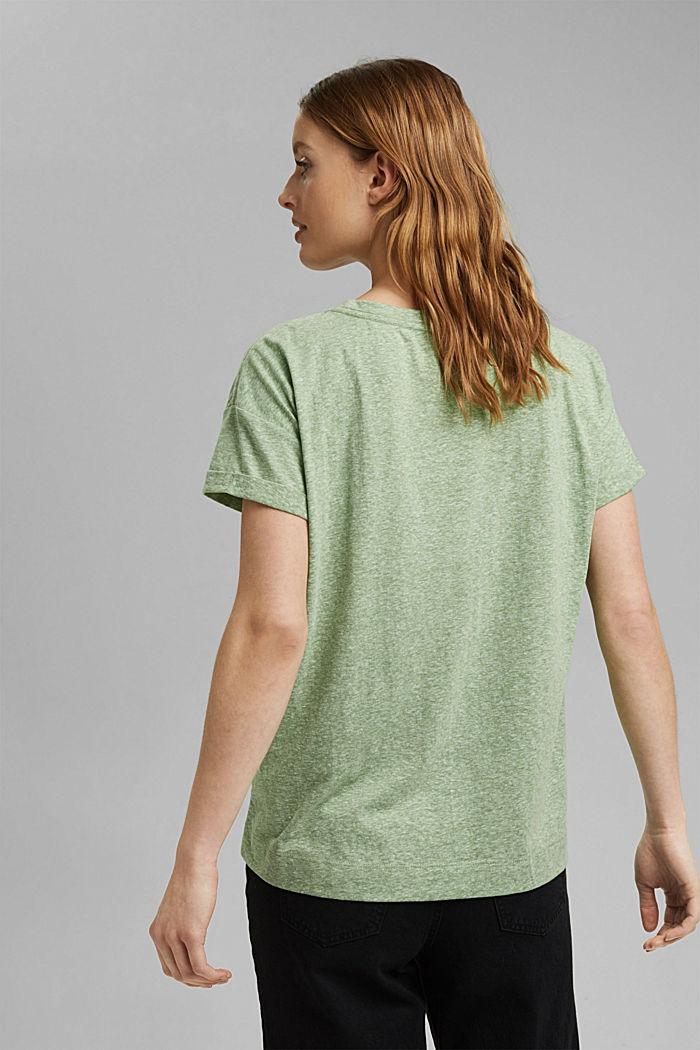 Kierrätettyä: T-paita, sis. luomupuuvillaa, LEAF GREEN, detail image number 3