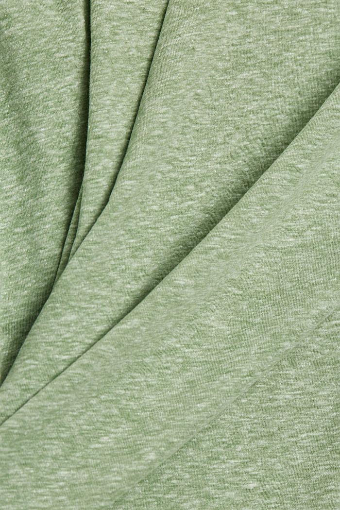 Kierrätettyä: T-paita, sis. luomupuuvillaa, LEAF GREEN, detail image number 4