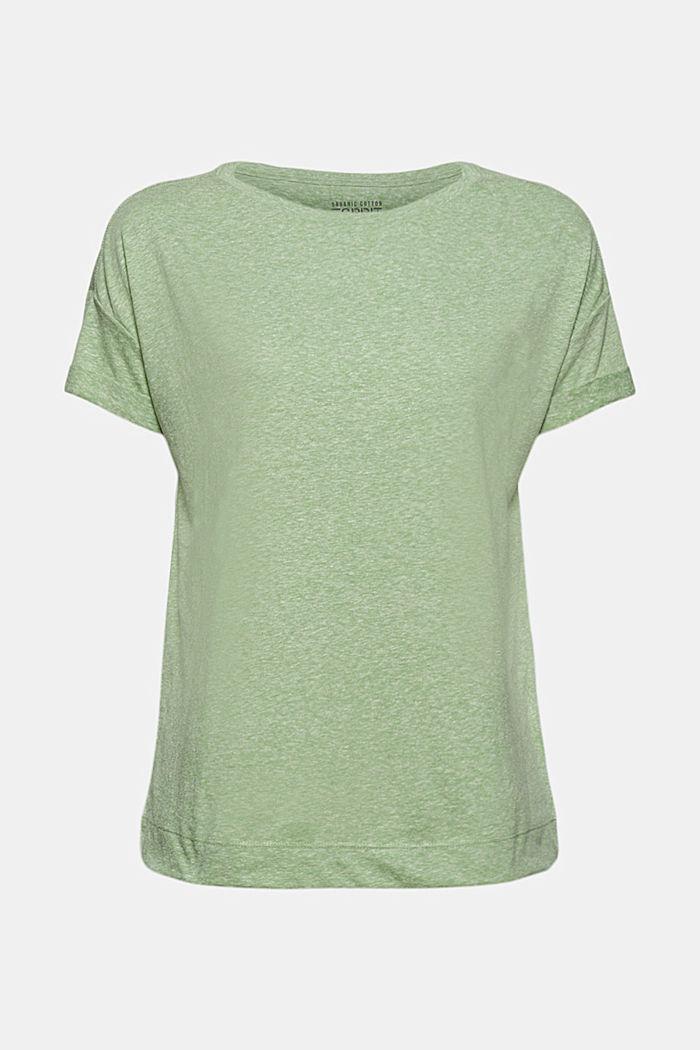 Kierrätettyä: T-paita, sis. luomupuuvillaa, LEAF GREEN, detail image number 6