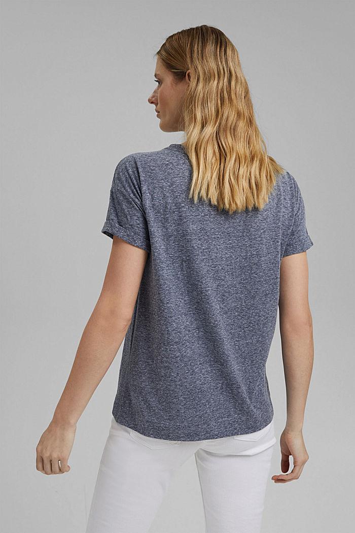 Kierrätettyä: T-paita, sis. luomupuuvillaa, NAVY, detail image number 3