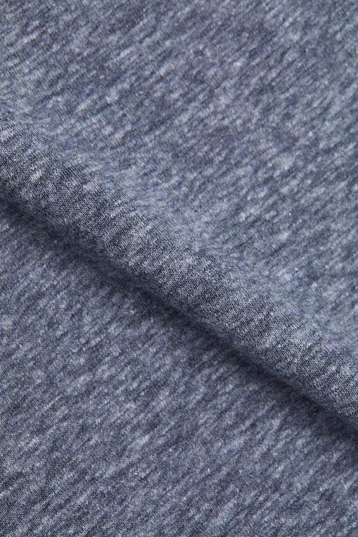Kierrätettyä: T-paita, sis. luomupuuvillaa, NAVY, detail image number 4