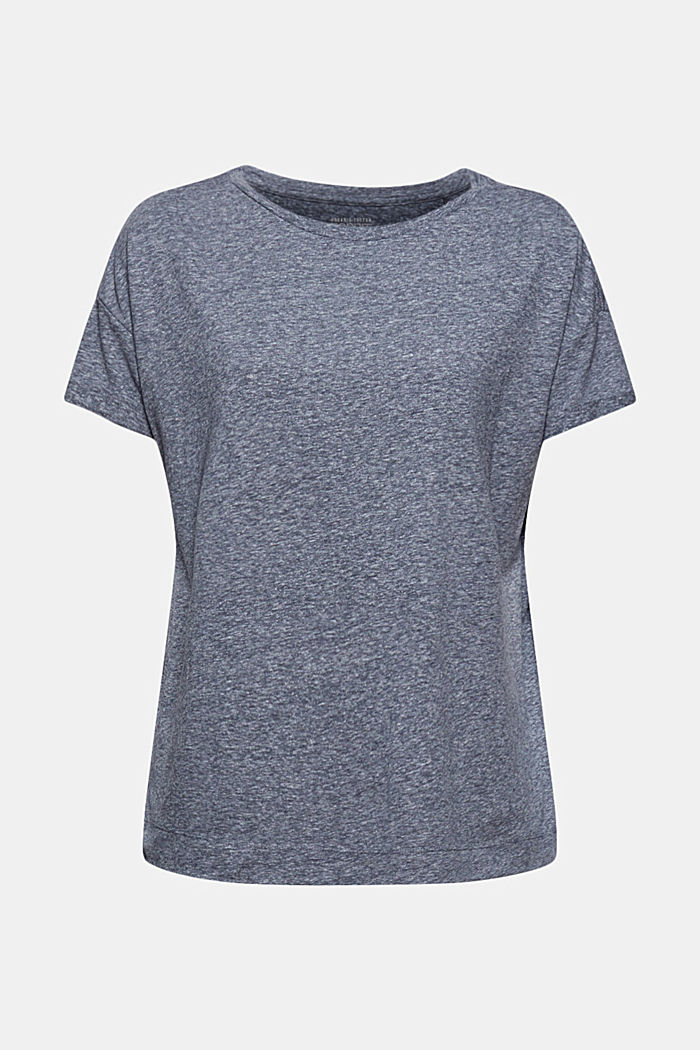 Kierrätettyä: T-paita, sis. luomupuuvillaa, NAVY, detail image number 7