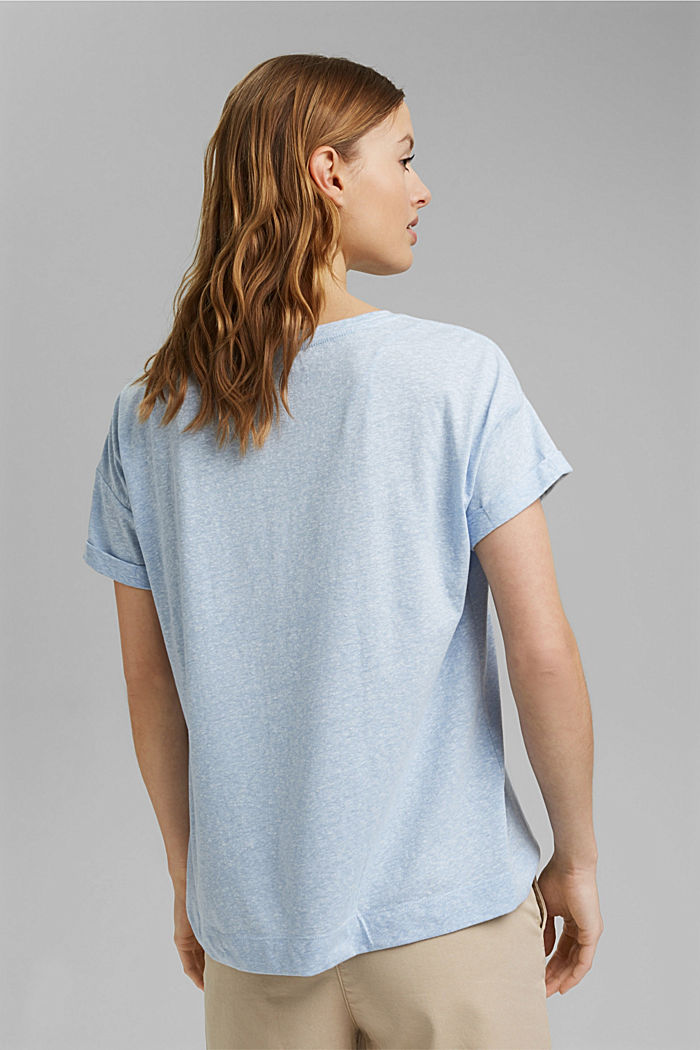 Recycled: T-shirt with organic cotton, LIGHT BLUE, detail image number 3