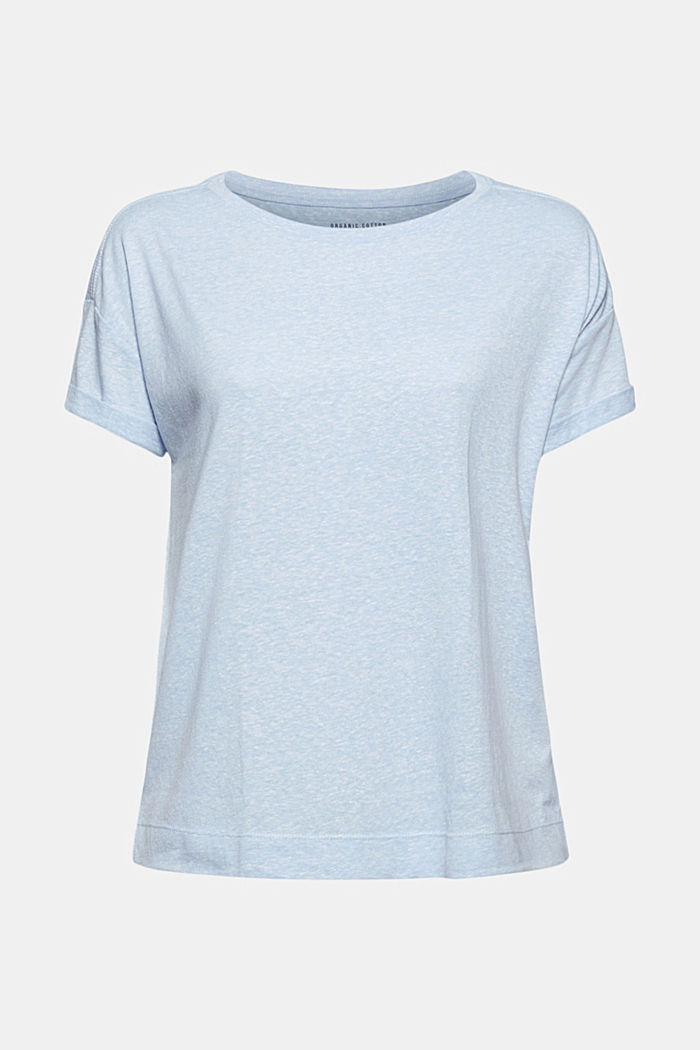 Recycled: T-shirt with organic cotton, LIGHT BLUE, detail image number 5