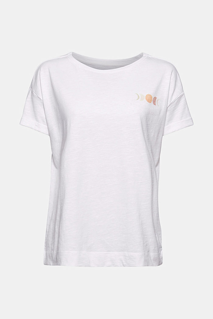 T-shirt with print, organic cotton, WHITE, detail image number 5