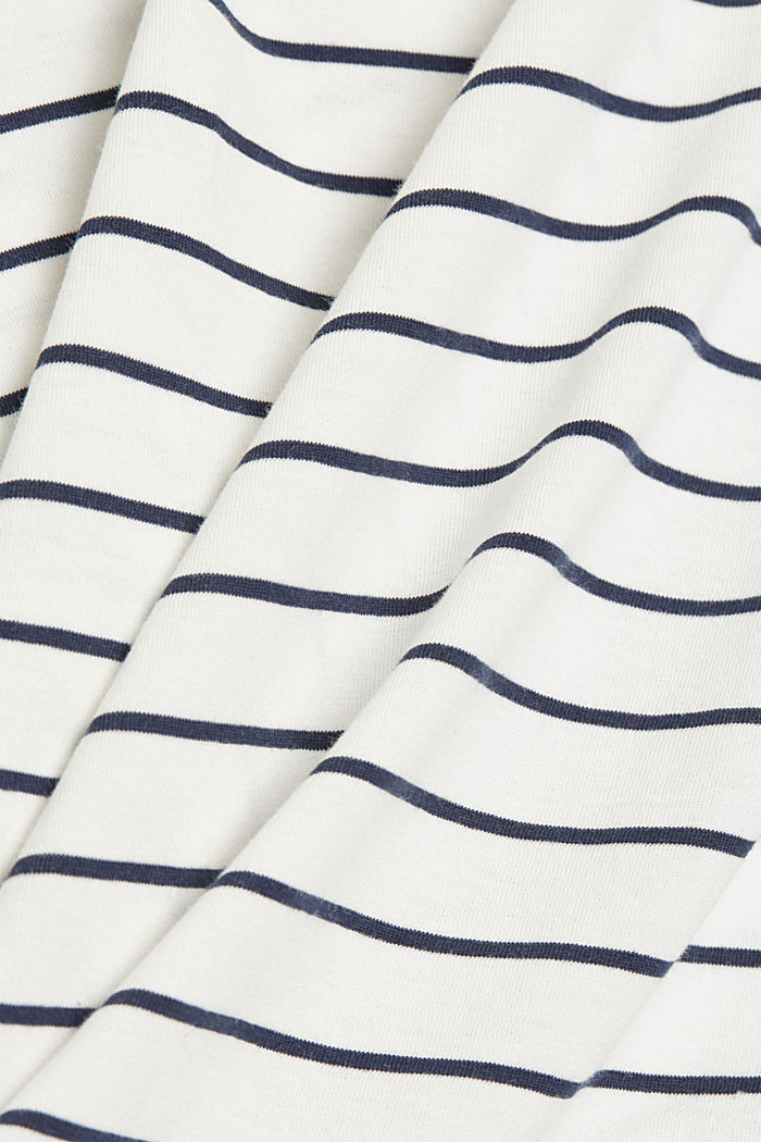 Striped organic cotton T-shirt with a print, NAVY, detail image number 4
