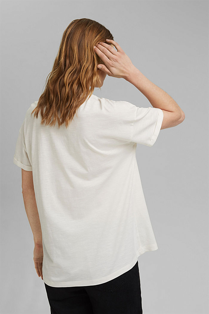 T-shirt made of organic cotton and TENCEL™/modal, OFF WHITE, detail image number 3