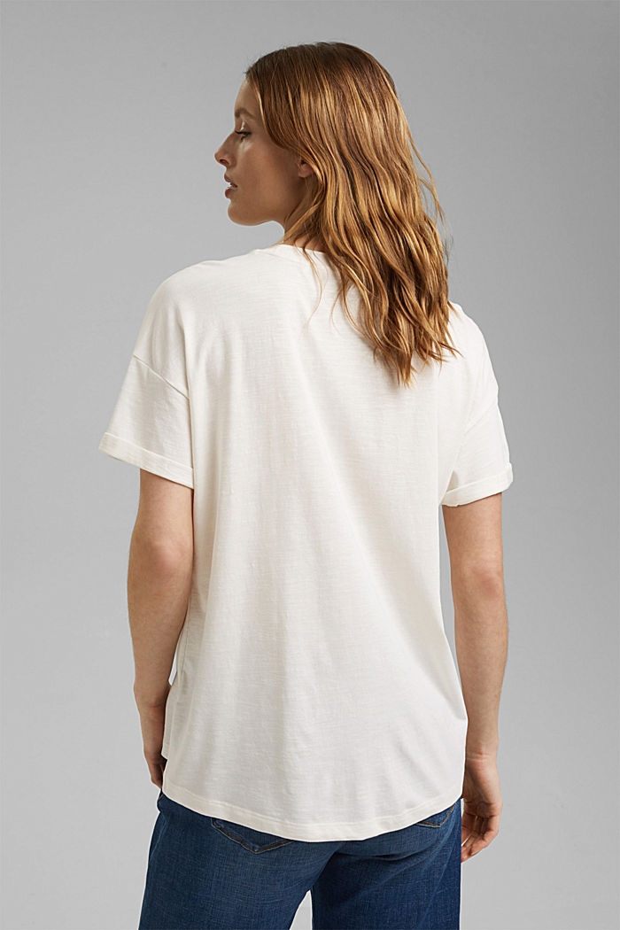 T-shirt made of organic cotton and TENCEL™/modal, NEW OFF WHITE, detail image number 3