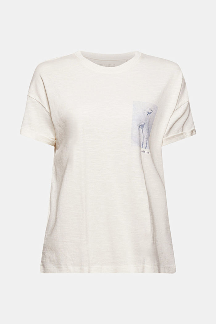 T-shirt made of organic cotton and TENCEL™/modal, NEW OFF WHITE, detail image number 5