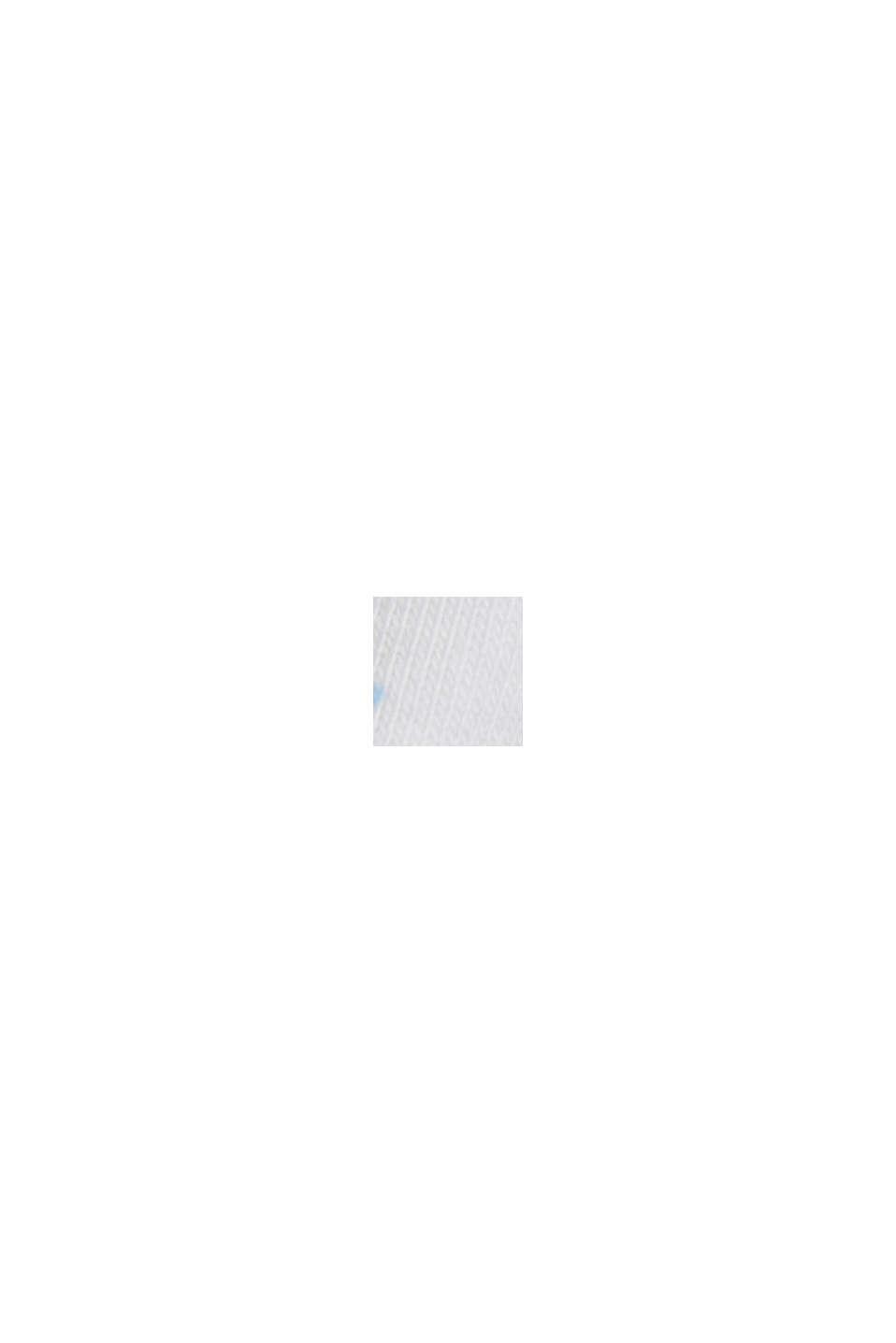 Basic printed top, organic cotton, WHITE, swatch