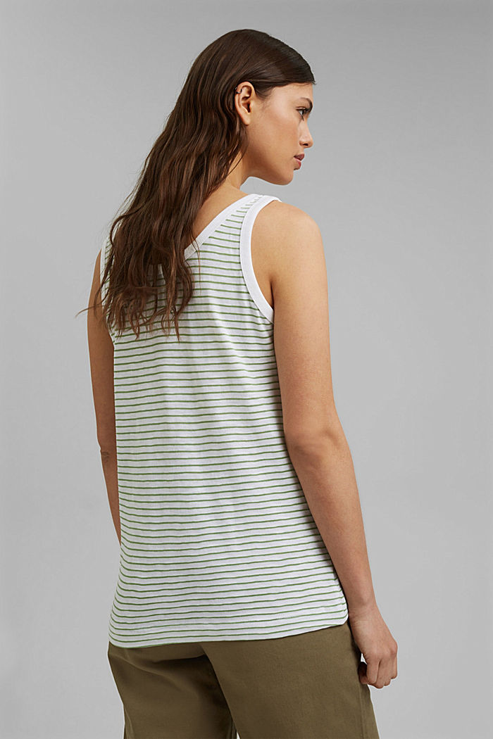 Recycled: sleeveless top with organic cotton, LEAF GREEN, detail image number 3