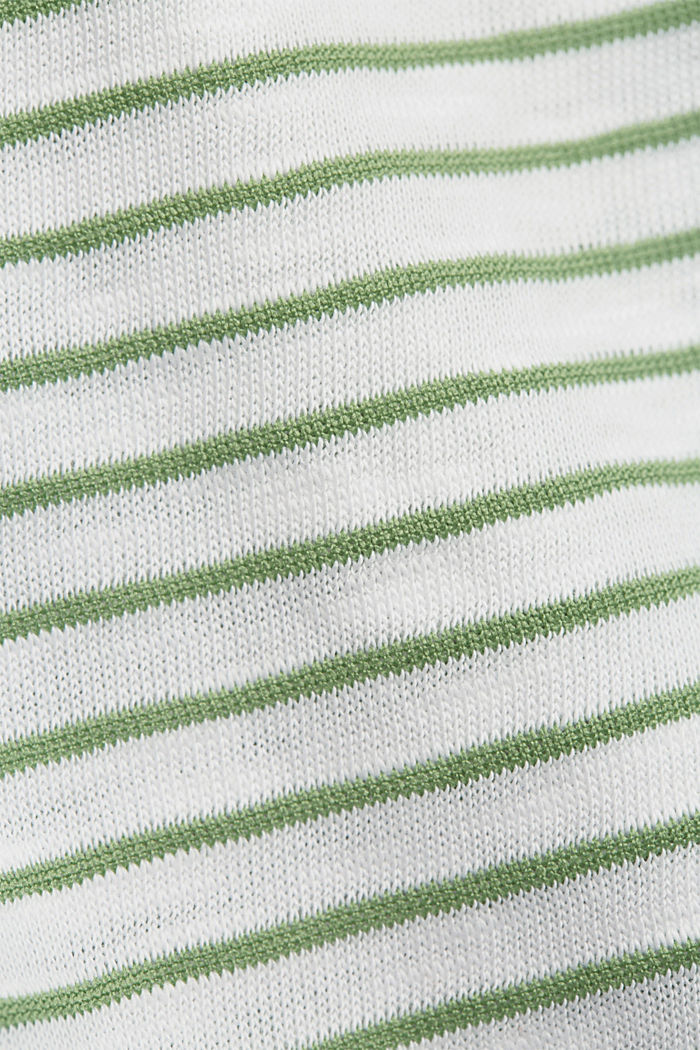 Recycled: sleeveless top with organic cotton, LEAF GREEN, detail image number 4