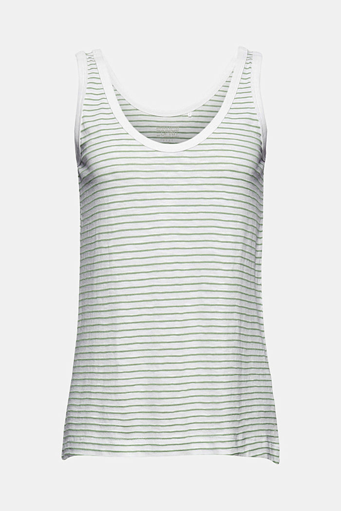 Recycled: sleeveless top with organic cotton