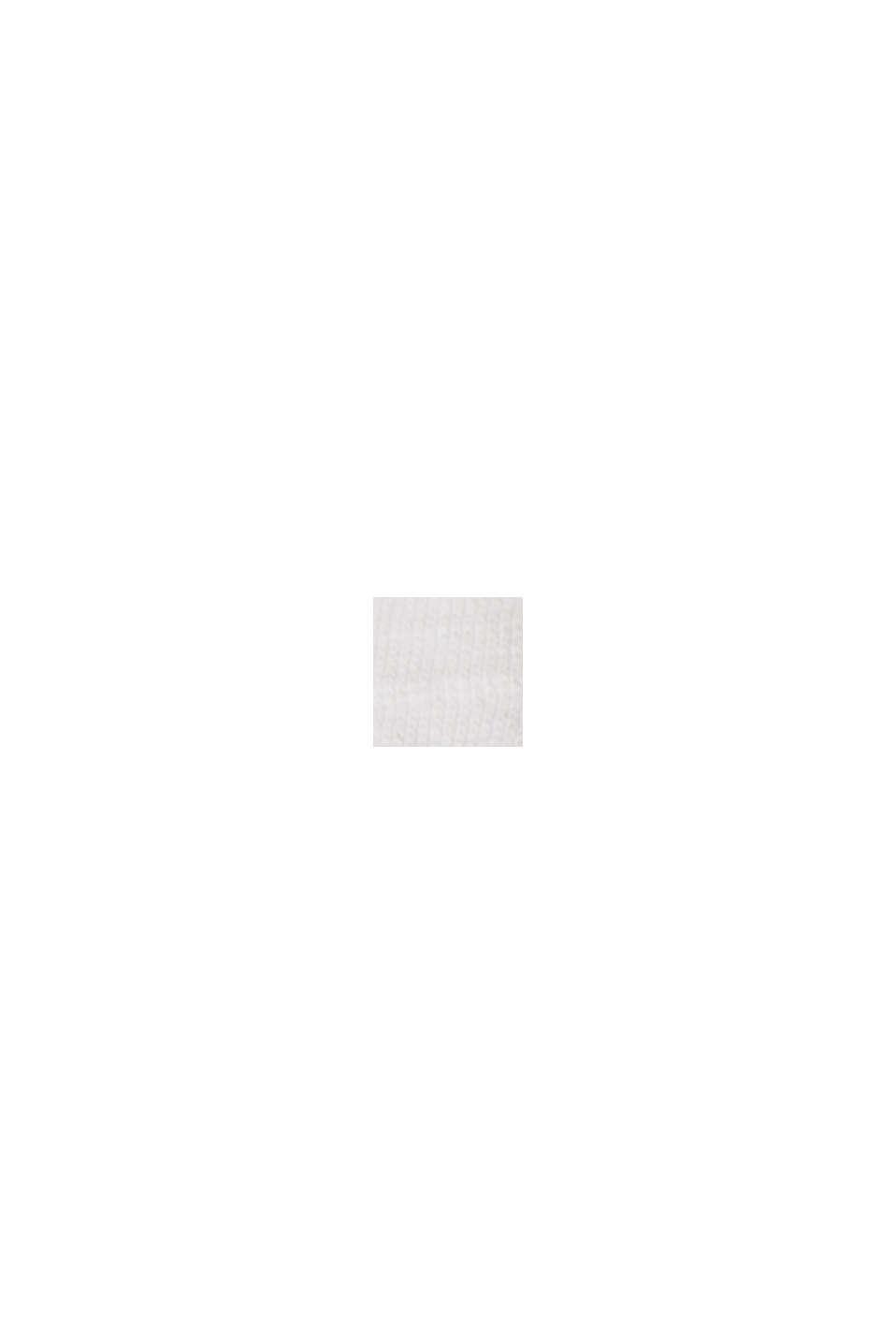 Tanktop met V-hals en gehaakte kant, OFF WHITE, swatch