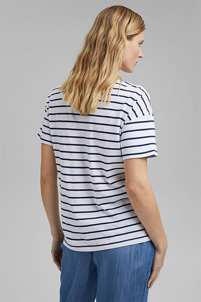 T-shirt van biologisch katoen en TENCEL™/modal, DARK BLUE, detail image number 3