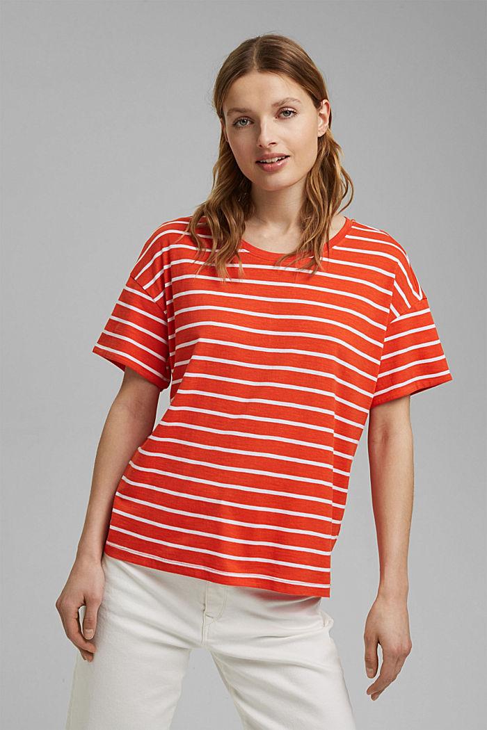 T-paita luomupuuvillaa ja TENCELiä™/modaalia, ORANGE RED, detail image number 0