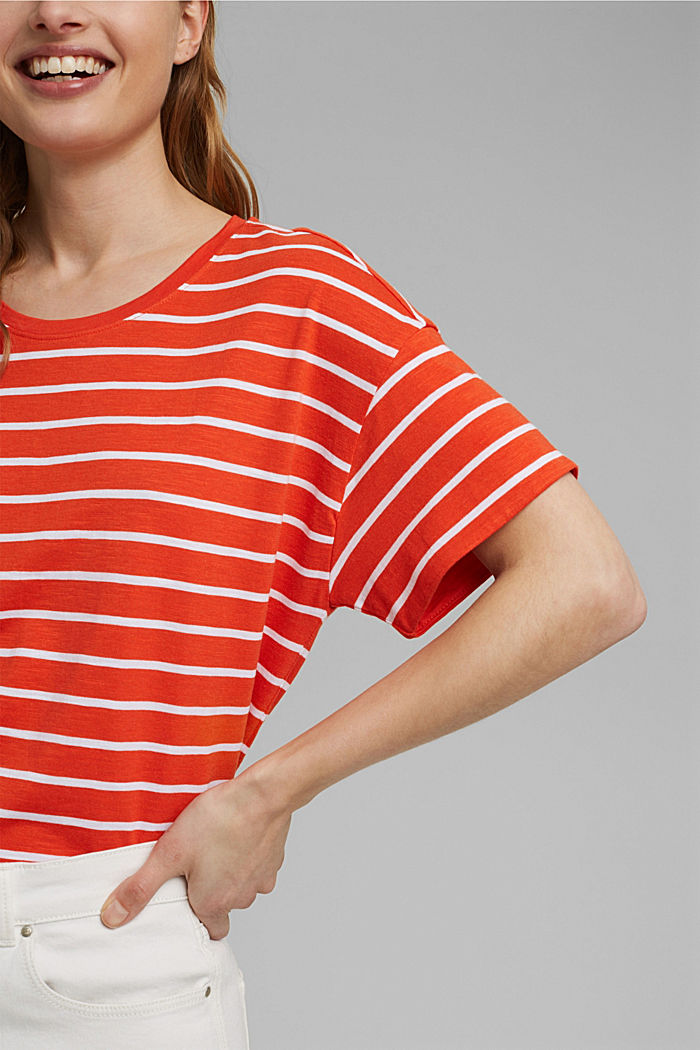 T-paita luomupuuvillaa ja TENCELiä™/modaalia, ORANGE RED, detail image number 2