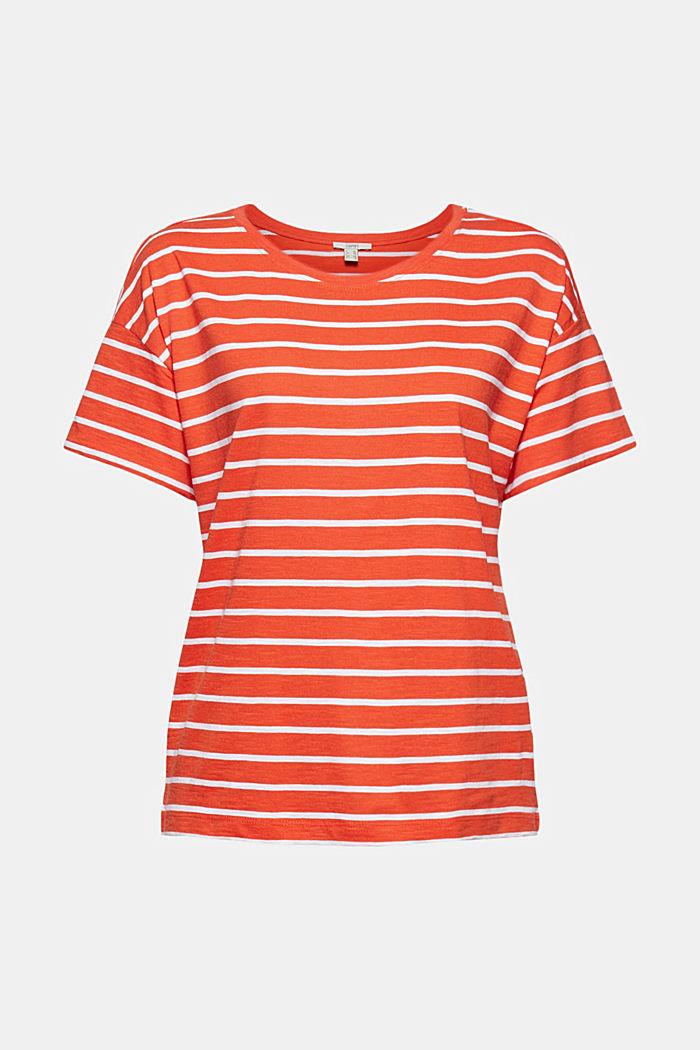 T-paita luomupuuvillaa ja TENCELiä™/modaalia, ORANGE RED, detail image number 5