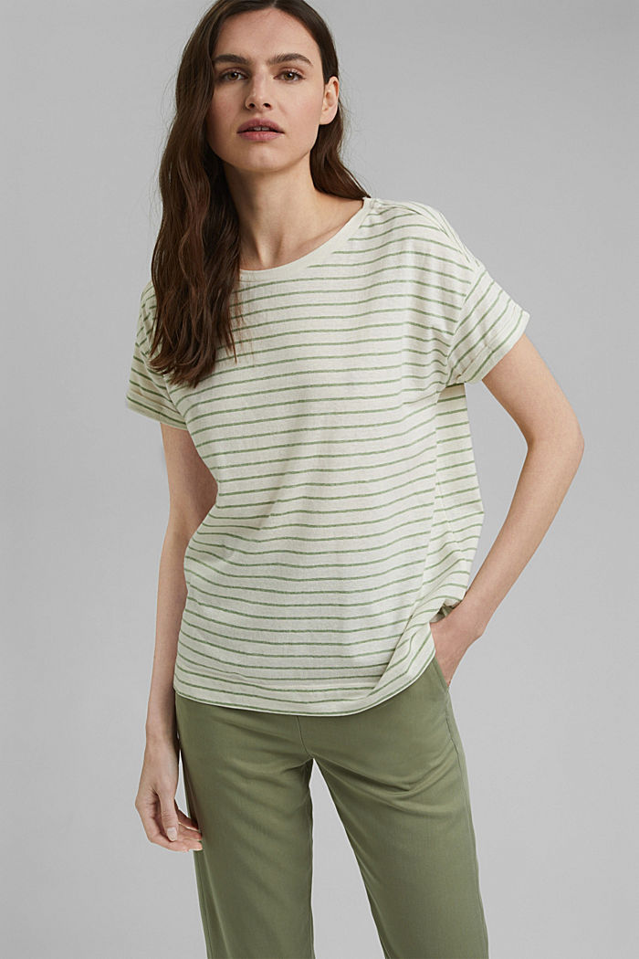 Recycled: T-shirt with organic cotton, LEAF GREEN, detail image number 0