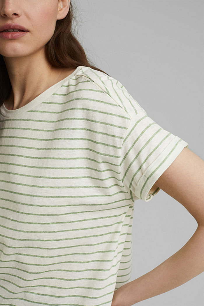 Recycled: T-shirt with organic cotton, LEAF GREEN, detail image number 2