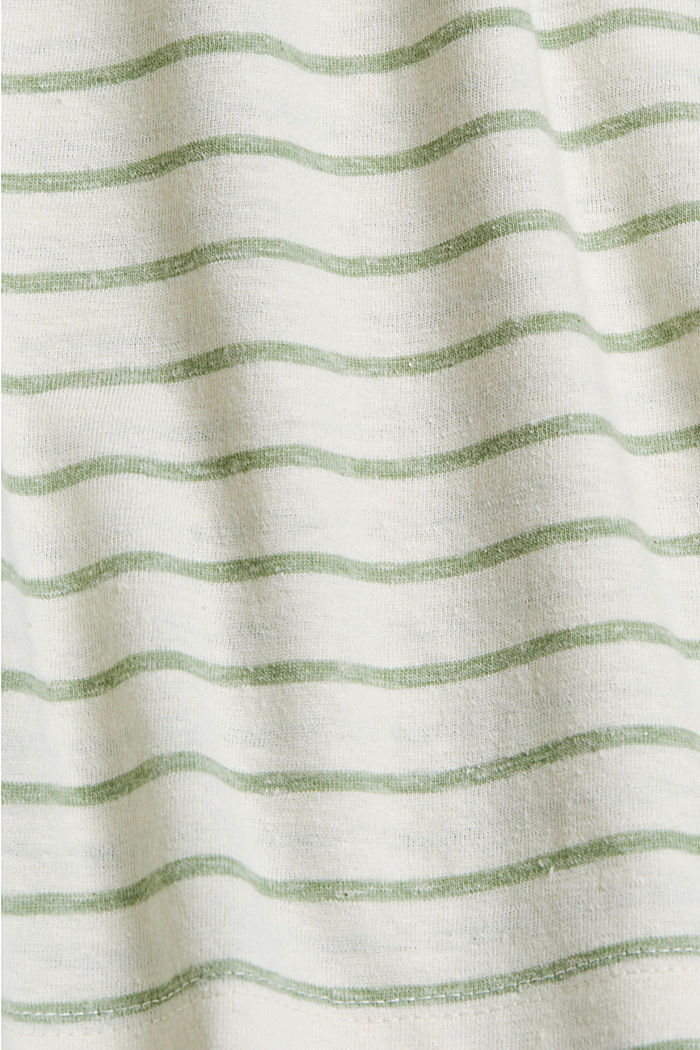 Recycled: T-shirt with organic cotton, LEAF GREEN, detail image number 4