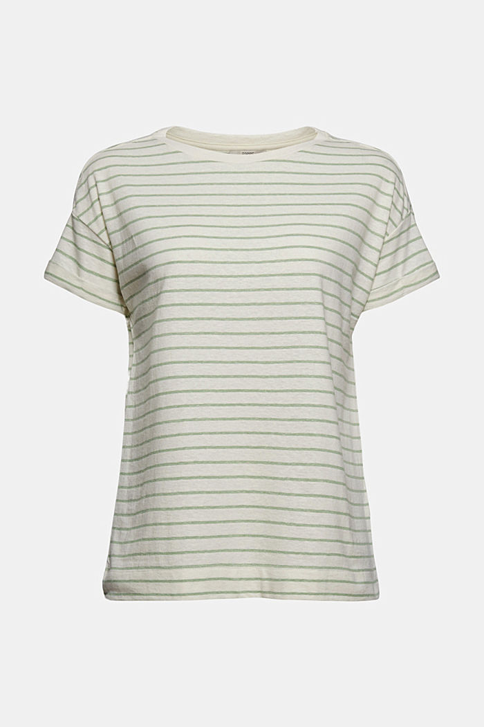 Recycled: T-shirt with organic cotton, LEAF GREEN, detail image number 5