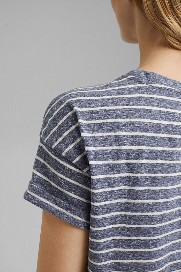 Recycled: T-shirt with organic cotton, NAVY, detail image number 4