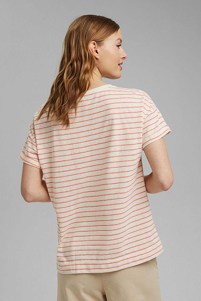 Recycelt: T-Shirt mit Organic Cotton, ORANGE RED, detail image number 3