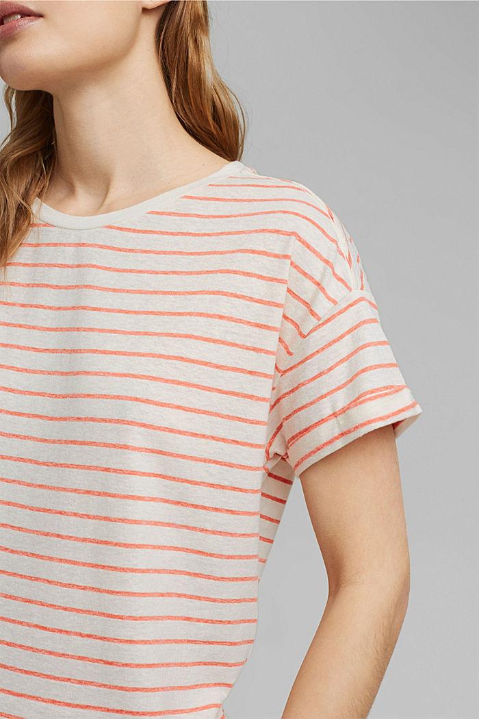 Recycelt: T-Shirt mit Organic Cotton, ORANGE RED, detail image number 2