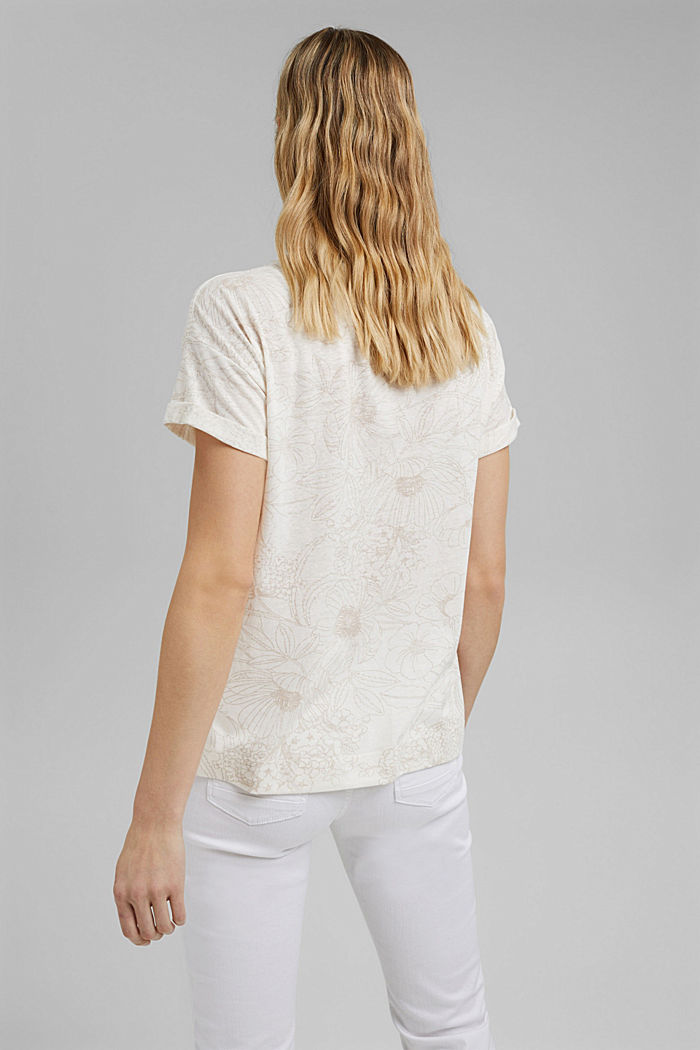 Recycled: T-shirt with organic cotton, OFF WHITE, detail image number 3